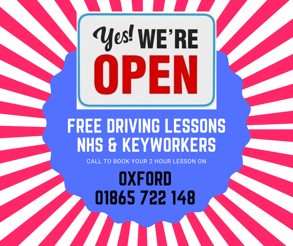 FREE DRIVING LESSONS NHS KEYWORKERS OXFORD
